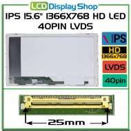 "IPS 15.6"" 1366x768 HD LED 40pin LVDS"