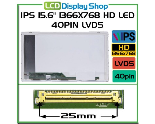 "LP156WHA-SLL1 15,6 Laptop Displej IPS displej - IPS 15.6"" 1366x768 HD LED 40pin LVDS"