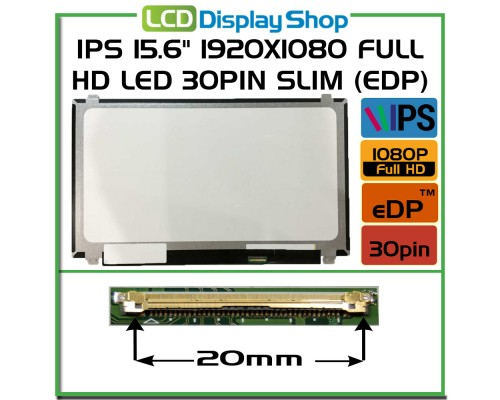 "LTN156HL09-401 Laptop Displej - IPS 15.6"" 1920x1080 Full HD LED 30pin Slim (eDP)"