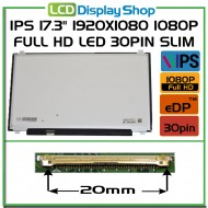 "IPS 17.3"" 1920x1080 1080p Full HD LED 30pin Slim (eDP)"