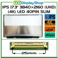 "IPS 17.3"" 3840×2160 (UHD) (4K) LED 40pin Slim (eDP)"