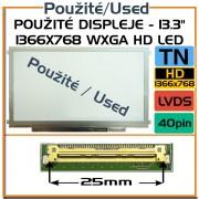 Použité displeje - AUO B133XW01 13,3 Laptop Displej