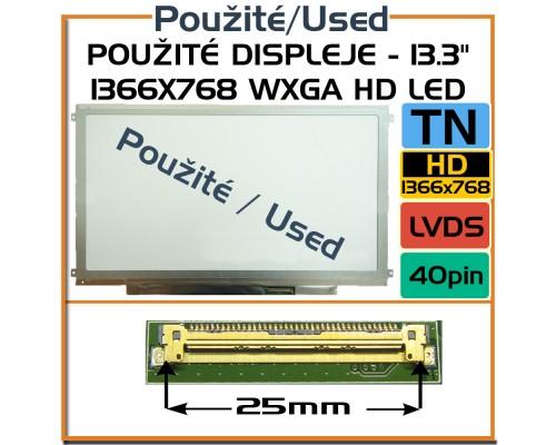 Použité displeje - AUO B133XW01 13,3 Laptop Displej - Použité LCD