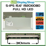 "S-IPS 15.6"" 1920x1080 Full HD LED 50pin+20pin"