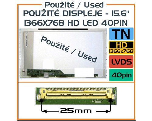 Použité displeje - LP156WHA-TLA1 LP156WHA (TL) (A1) 15,6 Laptop Displej - Použité LCD
