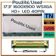 """Použité displeje - 17.3"""" 1600x900 WSXGA HD+ LED 40pin"""