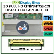 3D FULL HD LTN173HT02-C01 D02 displej do Laptopu, 3D Displej